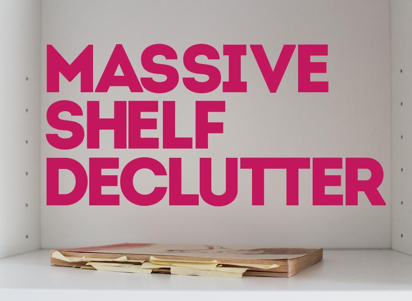 Bild von «massive shelf declutter»